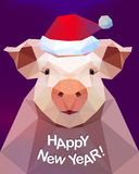 Ano novo feliz! Porco - símbolo de 2019 fotos de stock royalty free