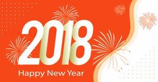 Ano novo feliz que cumprimenta 2018 Fotos de Stock