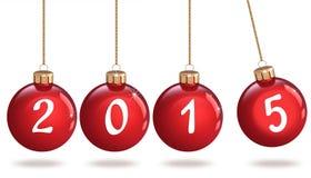 Ano novo feliz 2015, quinquilharia do Natal Fotografia de Stock Royalty Free