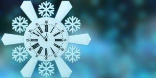 Ano novo feliz, rendição 3d Fotos de Stock
