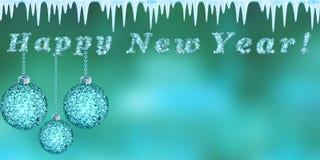 Ano novo feliz, rendição 3d Imagens de Stock