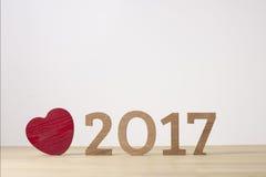 Ano novo feliz Símbolo do suspiro do número 2017 Imagem de Stock