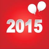 Ano novo feliz 2015 Vetor Foto de Stock Royalty Free