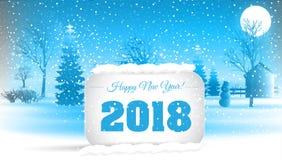 Ano novo feliz 2018 Vetor EPS 10 Foto de Stock