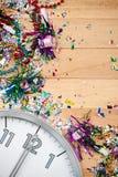 Ano novo: Fundo da meia-noite do partido da celebração Fotografia de Stock Royalty Free