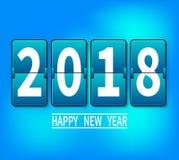 Ano novo 2018 ilustração 3D de 2018 números brancos em um fundo azul ilustração do vetor