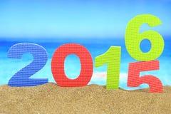Ano novo número 2016 Fotografia de Stock Royalty Free