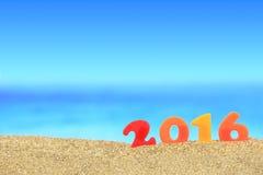 Ano novo número 2016 Fotos de Stock Royalty Free