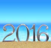 Ano novo número 2016 Imagem de Stock Royalty Free