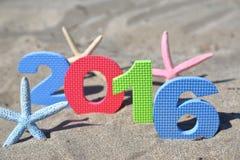 Ano novo número 2016 Foto de Stock Royalty Free