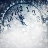 Ano novo na meia-noite fotografia de stock royalty free