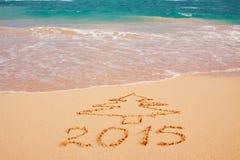 Ano novo 2015 nas Caraíbas Foto de Stock Royalty Free