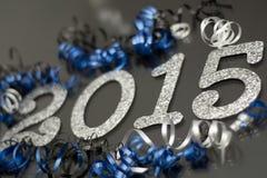 Ano novo 2015 no preto Imagens de Stock Royalty Free