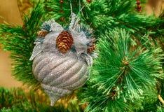 Ano novo, ornamento do Natal, retros Fotografia de Stock