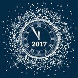 Ano novo pulso de disparo de 2017 anos Imagens de Stock Royalty Free