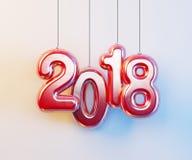 ano novo 2018, rendição 3d Fotografia de Stock Royalty Free