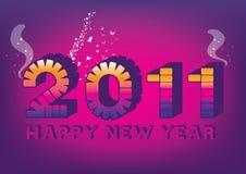 Ano novo roxo 2011 Fotos de Stock