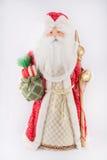 Ano novo Santa Claus em um revestimento vermelho Imagem de Stock