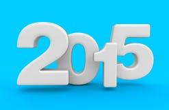 Ano novo 2015 (trajeto de grampeamento incluído) Fotos de Stock Royalty Free