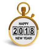 Ano novo um conceito de 2018 feriados ilustração royalty free