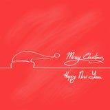 Ano novo vermelho de Santa Claus Hat Merry Christmas Happy ilustração stock
