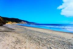 Ano Nuevo Kalifornia usa plaży widok Zdjęcia Stock