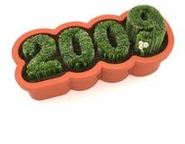 Ano-renovação & crescimento novos Fotografia de Stock