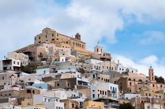 Ano Syros in Greece. Ano Syros, catholic town in Cyclades island Stock Photo