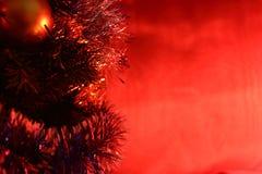Ano vermelho do galo - escarlate das luzes Fotografia de Stock