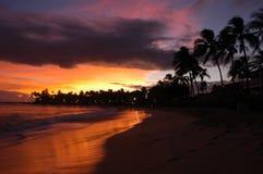 Anochecer de Kauai foto de archivo