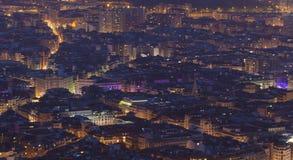 Anochecer en Bilbao Fotos de archivo
