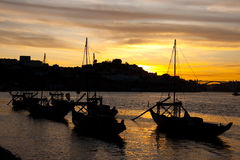Anochecer en Oporto foto de archivo libre de regalías