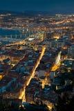 Anochecer en Santurtzi Imagen de archivo libre de regalías
