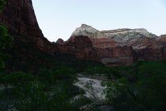Anochecer en Zion National Park Fotos de archivo libres de regalías