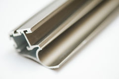 Anodized aluminum profile. Aluminum Extrusions,Extruded Aluminum Profiles, Stock Photo