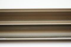 Anodized aluminum profile. Aluminum Extrusions,Extruded Aluminum Profiles, Stock Image