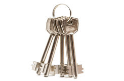 Anodized metal keys. On a white background Stock Image