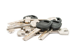 Anodized metal keys Royalty Free Stock Image