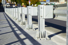 Anodized safety steel barrier Stock Photography