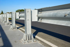 Anodized safety steel barrier Royalty Free Stock Photos