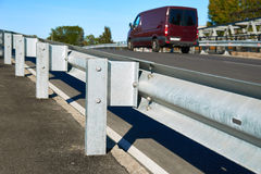 Anodized safety steel barrier Royalty Free Stock Images
