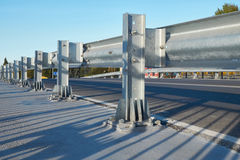 Anodized safety steel barrier Stock Photos