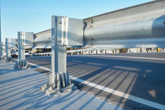 Anodized safety steel barrier Royalty Free Stock Photo