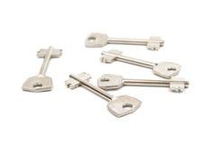 Anodyzujący metali klucze Zdjęcie Stock