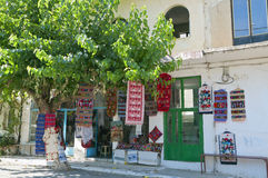 Anogia by på den Crete ön i Grekland Royaltyfria Bilder