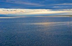 Anoitecer do lago Qinghai fotografia de stock royalty free