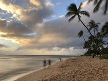 anoitecer em Maui foto de stock