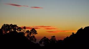 Anoitecer no parque natural de Pilancones Foto de Stock Royalty Free