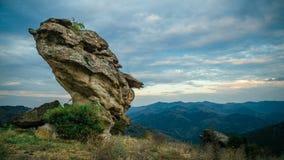 Anoitecer sobre a montanha de Rhodope Fotografia de Stock Royalty Free