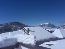 Anomal雪在意大利 库存照片